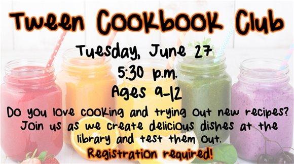 Tween Cookbook Club