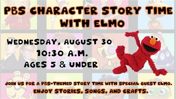 PBS Character Story Time with Elmo
