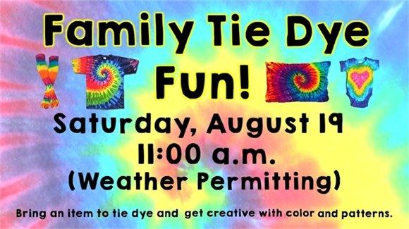 Family Tie Dye Fun!