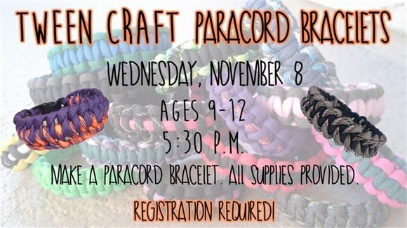 Tween Craft: Paracord Bracelets