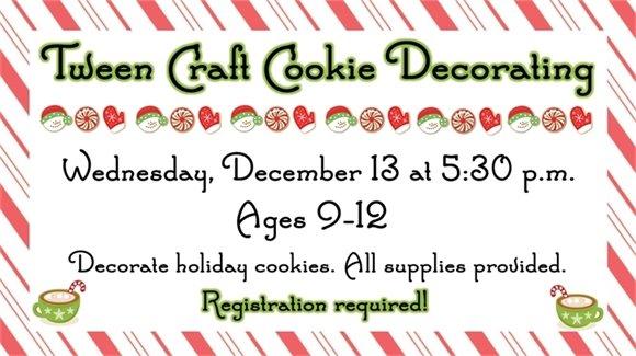 Tween Craft-Cookie Decorating