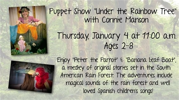 Under the Rainbow Tree Puppet Show with Connie Manson