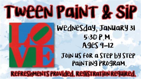 Tween Paint & Sip