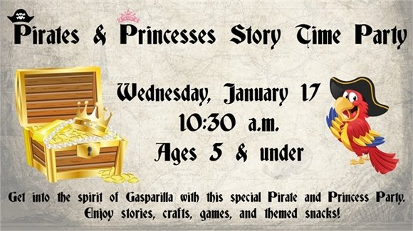 Pirates and Princesses Story Time