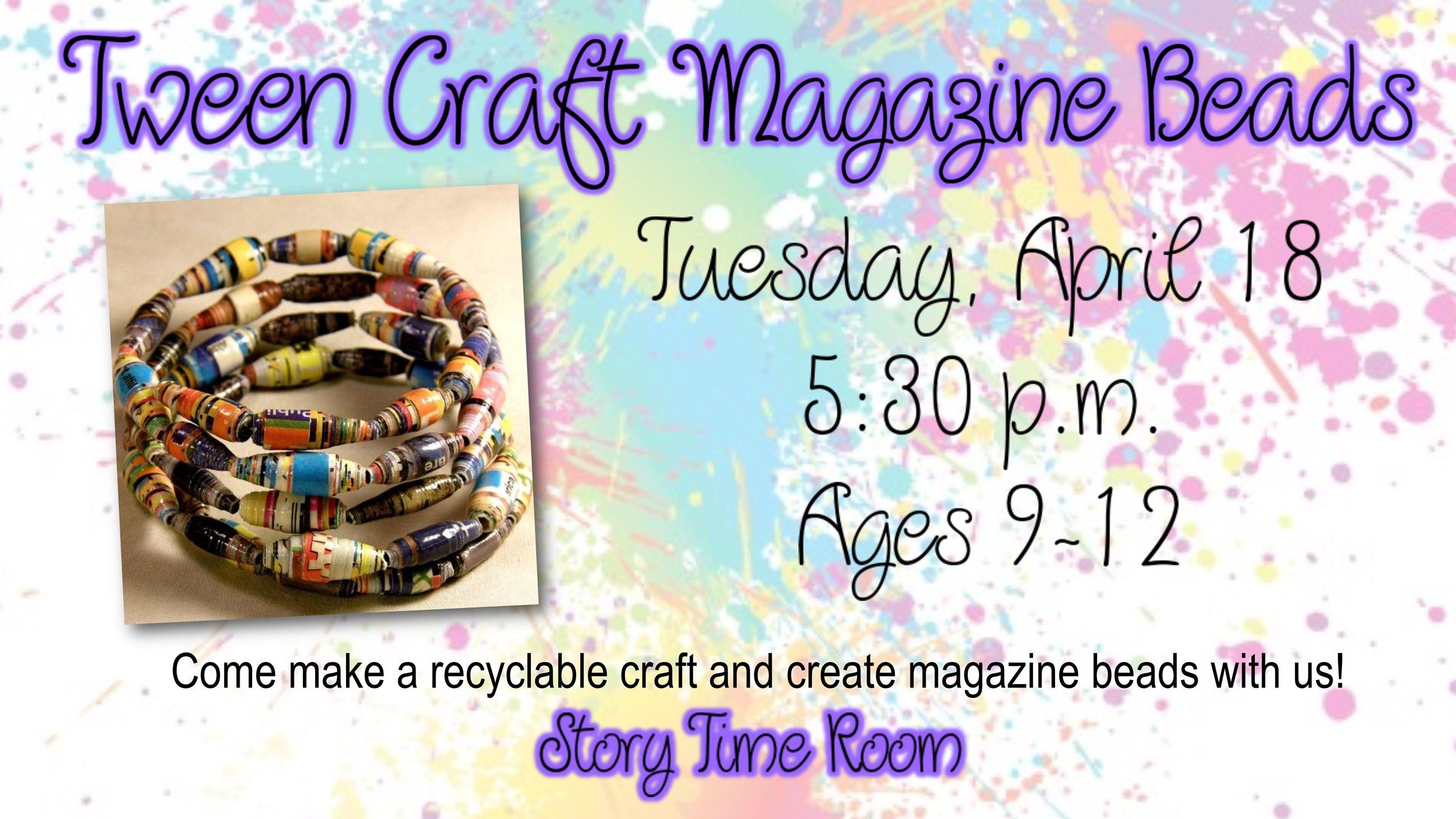 Tween Craft Magazine Beads
