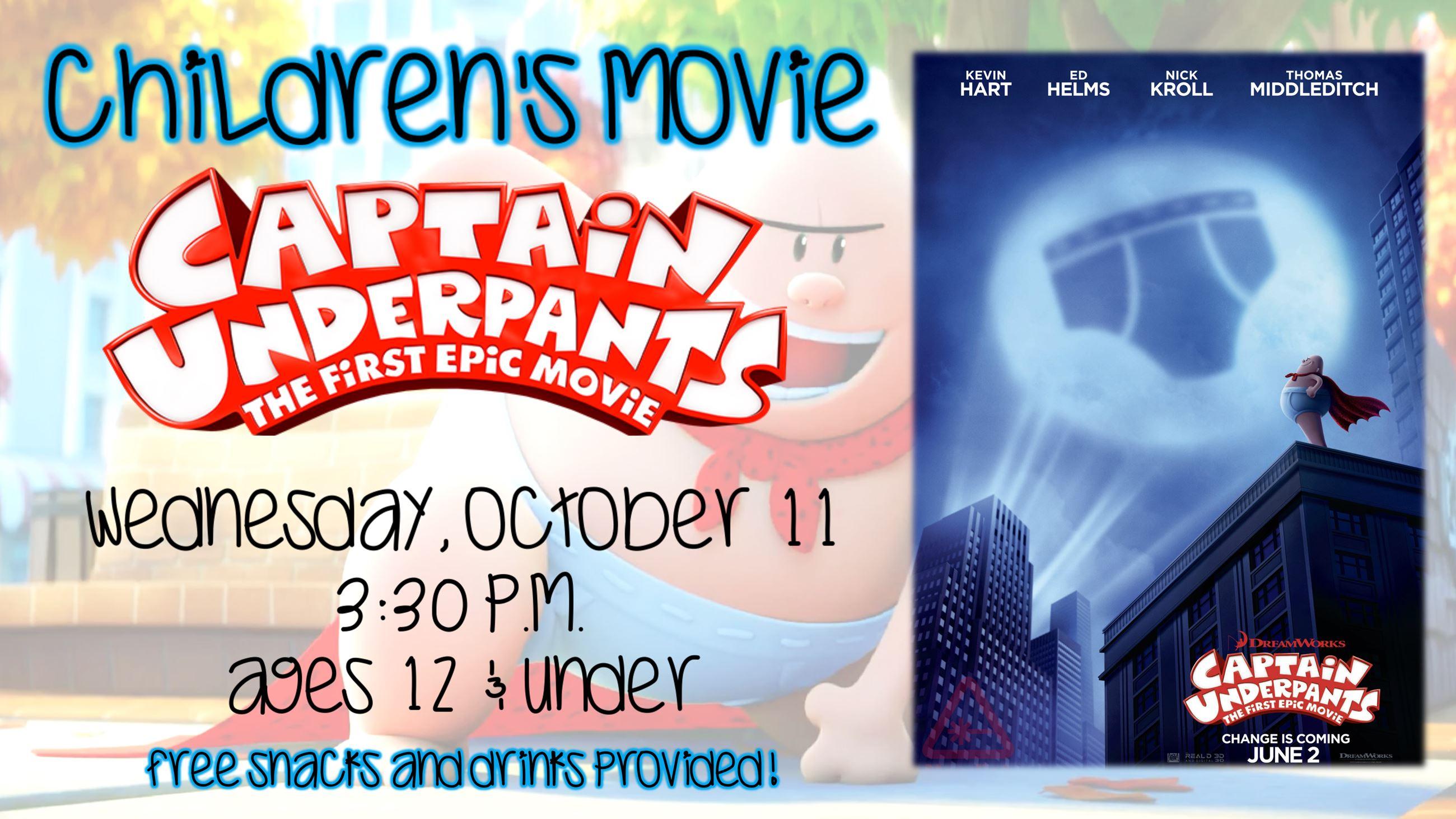 Childrens Movie Captain Underpants