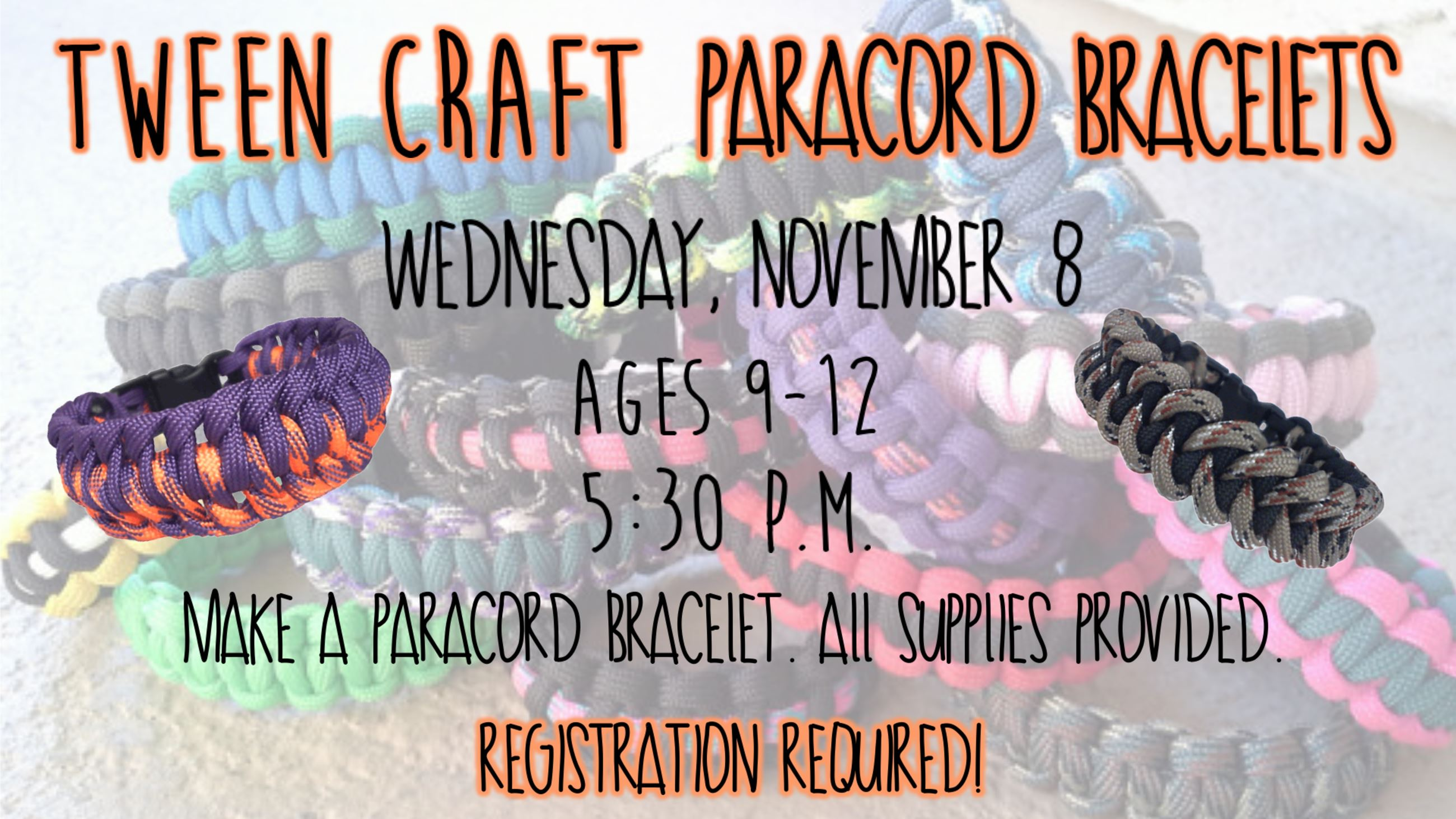 Tween Craft Paracord Bracelets