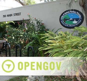 Safety Harbor City Hall with OpenGov Logo
