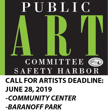 Safety Harbor Public Art Committee Call for Artists deadline June 28,  2019. Art installations for C