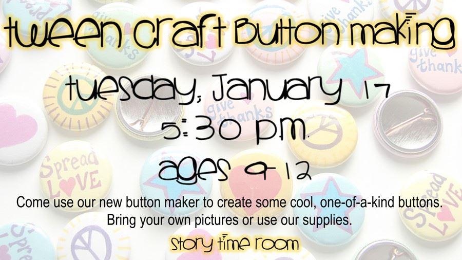 Tween Craft Button Making
