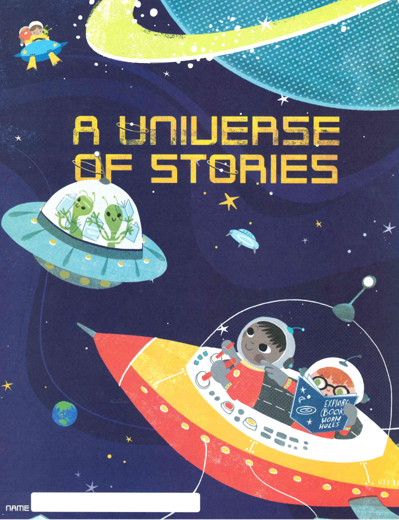 Universe of Stories Reading Log Front