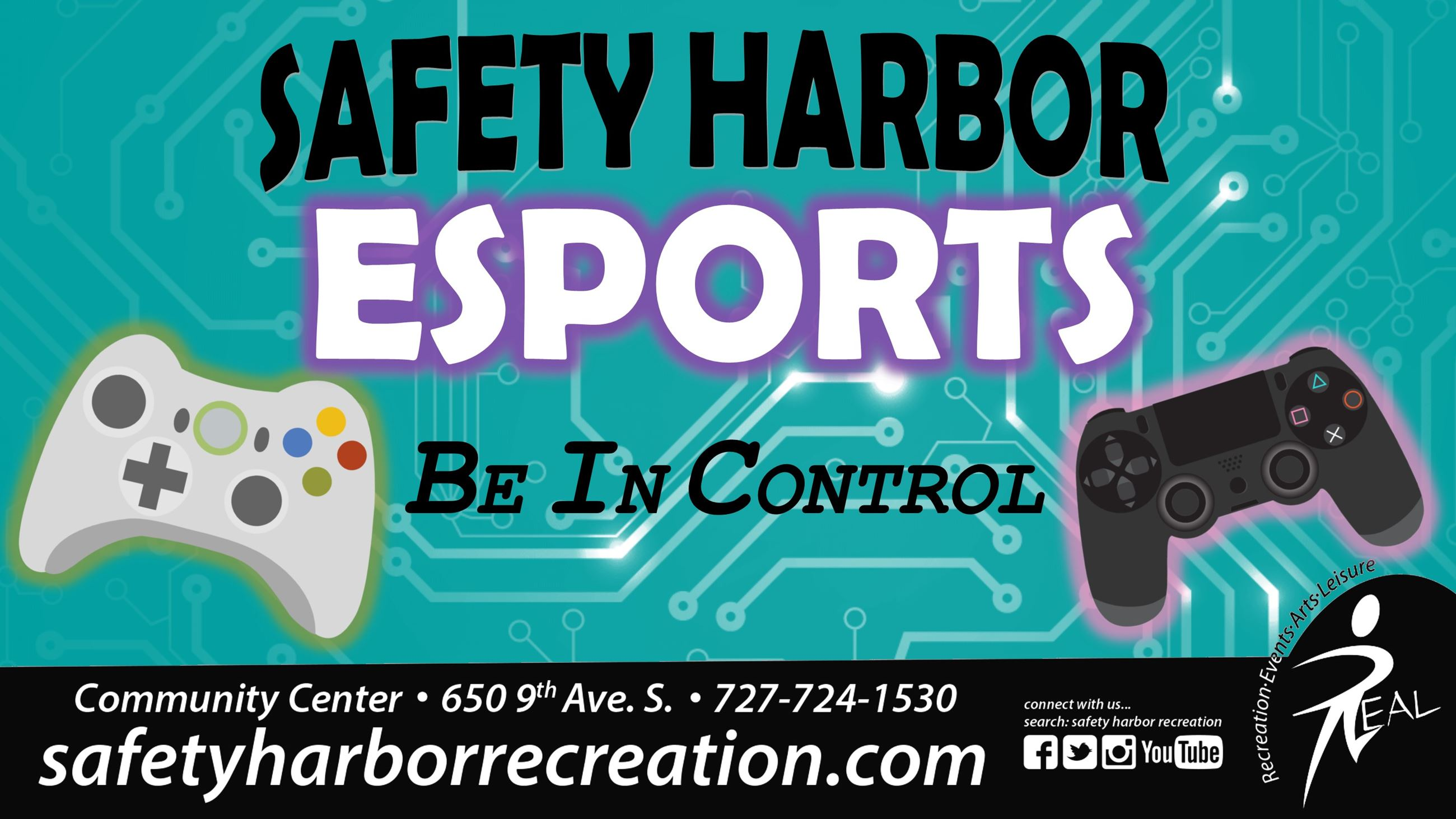 Safety Harbor ESports - Be In Control. Community Center, 650 9th Ave. S. 727-724-1530