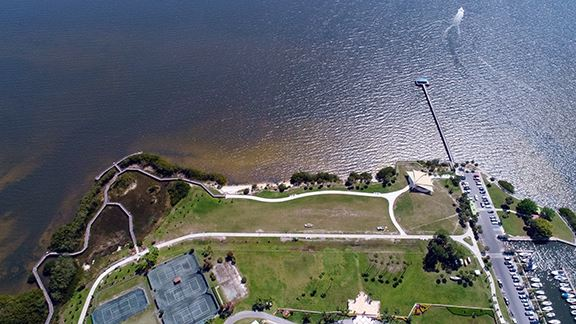 Waterfront Park Aerial View